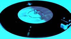 vinyl Vintage plays Oldies  on turntable VJ Loop - stock footage