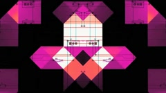 Circuit Board Multiplied In Many Colors Seamless Vj Loop Stock Footage