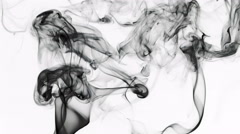 Abstract Fluid Smoke Element Turbulence Stock Footage