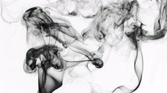 Abstract Fluid Smoke Element Turbulence - stock footage
