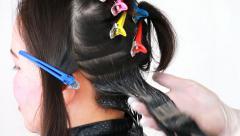 Asian Women Hair Dyes Beauty Salon Stock Footage
