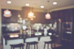 Blurred Kitchen with Retro Instagram Style Filter Kuvituskuvat