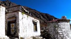 Tibetan House at Tsurpu Monastery No.1 Stock Footage