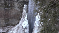 Ice formations Wall of ice/ 4k winter waterfalls footage 2015 Stock Footage