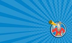 Business card Circus Ringmaster Bullhorn Circle Cartoon Piirros