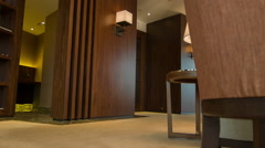Interior of room in hotel Stock Footage