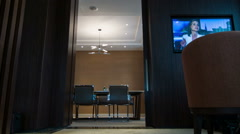 Interior of meeting room in hotel Stock Footage