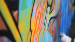 Street art  and urban wall graffiti 1920x1080 full hd footage Stock Footage