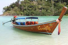 Traditional Thai boat - stock photo