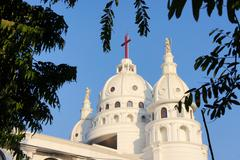 Sacred Heart Catholic Church Chennai, Tamil Nadu, Southern India - stock photo