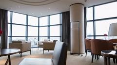 Interior of nice meeting room in hotel Stock Footage