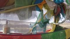 Tibetan Lake & Prayer Flags No.2 Stock Footage