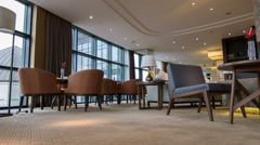 Interior of nice meeting room in hotel Stock Footage