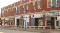 Deserted storefronts Stock Footage