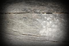 Ancient oak wood texture with added vignette Stock Photos