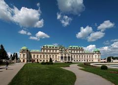 Vienna Belvedere Stock Photos