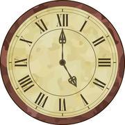 Antique roman numeral clock - stock illustration