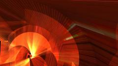 Orange 3d polygonal pattern abstract motion background - stock footage