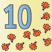 number ten - stock illustration