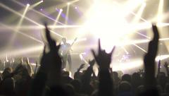 rock concert, raise your hands up(6) - stock footage
