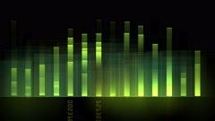 4k Audio equalizer,music rhythm Volume,speakers waves spectrum,heart-rate,vj. Stock Footage