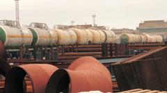 Industrial tank with liquid ammonia (3) Stock Footage