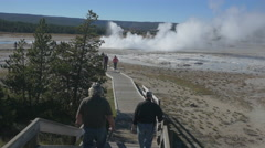 Geysers erupting in Yellowstone National Park Stock Footage