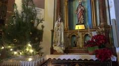 4k Church Nossa Senhora do Monte Madeira indoor panning Stock Footage