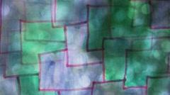 Video  motion  graffiti square  mesh avant-garde art night light moves along the - stock footage
