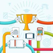 Online education, personal development concept Stock Illustration