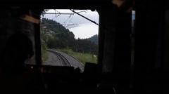Mountain Train Inside Stock Footage