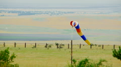 Multi Colored Windvane At Nature Stock Footage