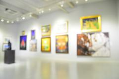 Blur or Defocus image of the lobby of a modern art center - stock photo