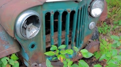 Old Rusty Jeep Stock Footage