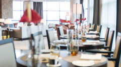 Interior of restaurant in hotel Stock Footage