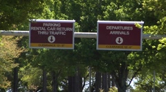 Airport-1 Tallahassee Regional Airport entrance signs Stock Footage