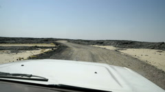 Travel in an off-road vehicle in the Danakil Depression, Ethiopia, Africa Stock Footage