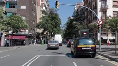 Streets of Barcelona Stock Footage