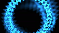 4k blue stars made up of aura hole tunnel,abstract vj background. Stock Footage