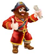 Cartoon thumbs up pirate Stock Illustration