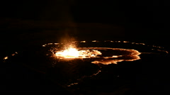 Erta Ale, Erta Ale is an active volcano in the Danakil Depression in north easte Stock Footage
