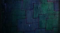 Video  motion  graffiti   square  mesh avant-garde  art night light moves along - stock footage