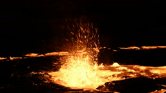 Erta Ale, Erta Ale is an active volcano in the Danakil Depression in north easte - stock footage