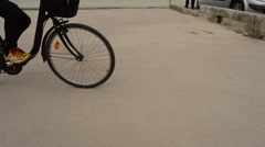 Bikes On The Street Stock Footage