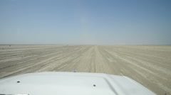 Travel in an off-road vehicle in the Danakil Depression, Ethiopia, Africa - stock footage