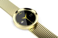 Stock Illustration of Gold smart watch