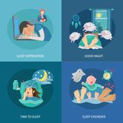 Sleep Time Flat Piirros