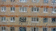 drops on the glass window of the house (10) - stock footage