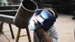 Welding work. Stock Footage