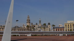 The view from Plaça de l'Ictineo, Barcelona Stock Footage